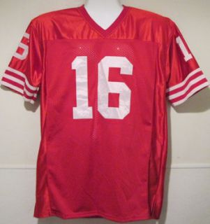 Joe Montana Autographed Signed San Francisco 49ers Red Size XL Jersey
