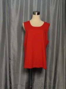 Joan Vass Red Black Trim Cashmere Blend Cardigan Tank Sweater Set