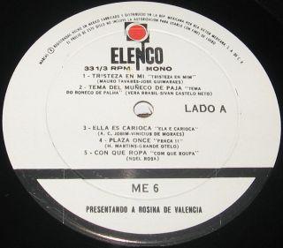 de Valenca Presentando LP Bossa Nova Brazil Jobim Joao Gilberto
