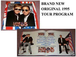 Billy Joel Elton John 1995 Concert Tour Program Book