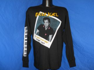 Joel Innocent Man Tour 1984 LS Piano Sleeve Black T Shirt Large L