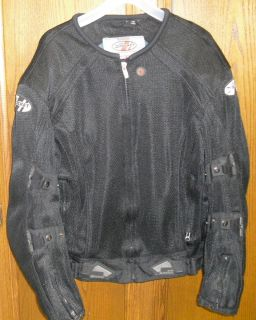 Joe Rocket Motorcycle JACKET Phoenix 4 0 Black Mesh Textile w Padding