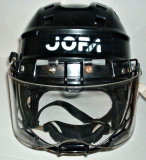 Vintage Mens Jofa Black Hockey Helmet Itech Cage Shield
