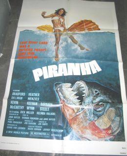 Piranha Original U s One Sheet Movie Poster Joe Dante