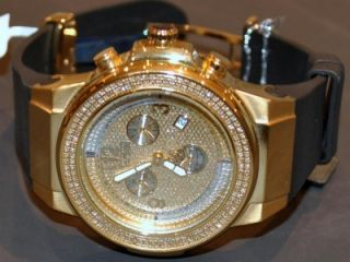Joe Rodeo JoJo Panter JPT12 Rubber Band Diamond Watch 1 5ct Mens Gold