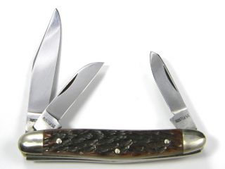 Vintage 70s  GERMAN EYE / CARL SCHLIEPER  Pocket Knife  3b STOCKMAN