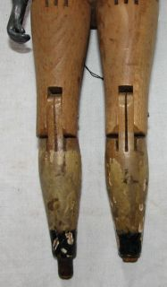 Vtg Antique Joel Ellis Hand Carved Jointed Wood Doll Springfield VT