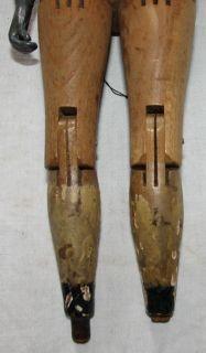 Vtg Antique Joel Ellis Hand Carved Jointed Wood Doll Springfield VT