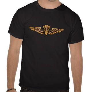 Marine Corps Airborne Wings with Recon Sniper Tabs Polo T shirts
