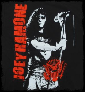 Joey Ramone Mic Hey HO Lets Go T Shirt Official Fast SHIP