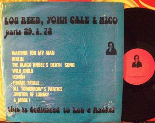 Lou Reed John Cale Nico Paris 29 1 72 Original 1980 Italy LP Shrink