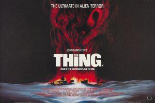 The Thing John Carpenter Horror Movie Poster Print