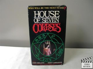 House of The Seven Corpses VHS John Ireland John Carradine