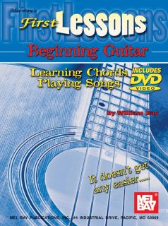 First Lessons Beginning Guitar Book DVD Chords Songs 0786676817