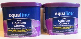 Equaline (Albertsons) 120 Soft Calcium Chews 10/2012 Milk Chocolate