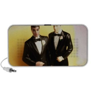 Two Groom Wedding Cake Figurines Mp3 Speakers