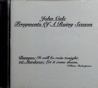 Fragments of A Rainy Season by John Cale CD Sep 1992 Hannibal