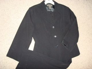 John Paul Richard Jacket Pants Black Suit Size 8 10