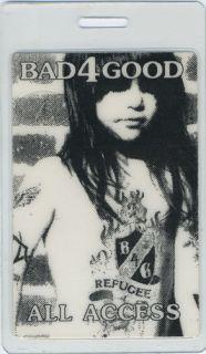 Bad 4 Good 1992 Laminated Backstage Pass Steve Vai Bad Religion