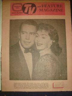 CLEVELAND NEWS TV MAGAZINE JOHN FORSYTHE PAUL NEWMAN 1 FEBRUARY 1958