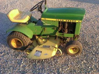 John Deere 70 Tractor Riding Lawn Mower 34 Cut JD Front Mount Snow