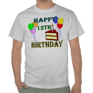 12ma camiseta feliz de la torta de cumpleaños de