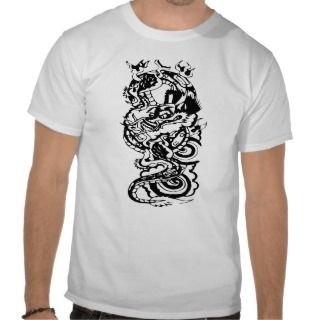 Cool Tribal Dragon Tattoo Designs Custom Art Tee