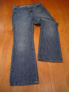 St. Johns Bay Womens Size 12 Short Inseam 29 Blue Jeans Boot Cut 1%