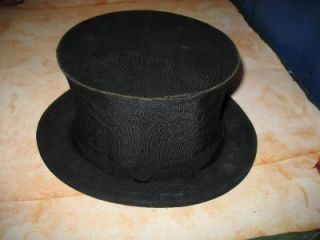 Antique Collapsible Folding Top Hat Cavanagh 247 Park Ave NY