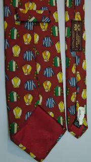 John Comfort Horse Racing Jockey Colorful Silk Jersey Red Blue Neck Tie Necktie |