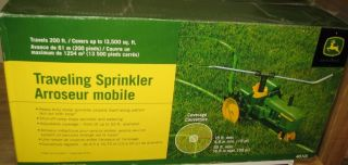 John Deere Tractor Traveling Lawn Yard Grass Water Sprinkler New