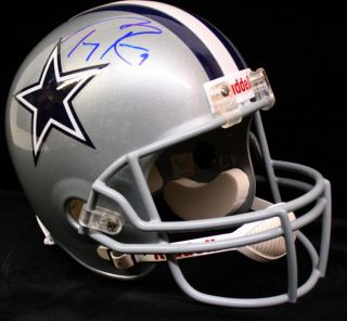 Tony Romo Signed Autographed Dallas Cowboys F s Full Size Helmet JSA W291095