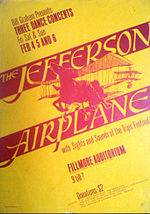 Jefferson Airplane Pete Seeger John Fahey Concert Poster 1966 Berkeley Folk AOR