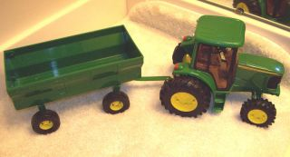 "Ertl My First John Deere Tractor 2315 Metal Plastic Great 7"" with Wagon Trailer"
