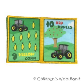 John Deere Cloth Soft Book Kid Baby Tractor Farm Counting Numbers Bedtime Story