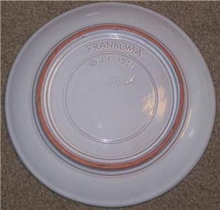 1971 FRANKOMA CHRISTMAS PLATE NO ROOM IN E INN SIGNED BY JOHN FRANK |