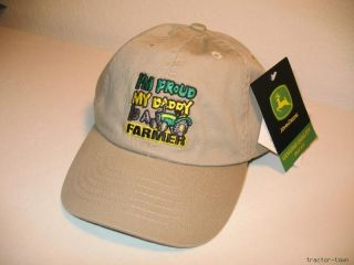 John Deere Proud Daddy Is A Farmer Youth Boys Hat Cap
