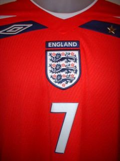 England Beckham Football Soccer Shirt Jersey Uniform XL