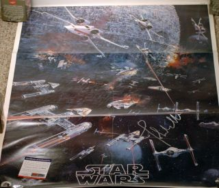 John Williams Signed Original 1977 Star Wars Album LP Record Poster PSA COA