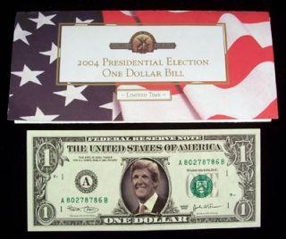 2004 Presidential Election John Kerry One Dollar Bill