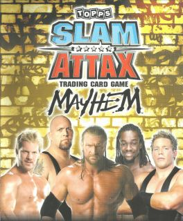 Topps WWE Slam Attax Mayhem Raw Trading Card See Which Cards Available New