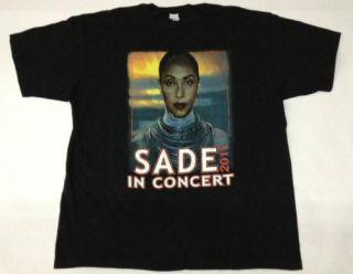 Sade 2011 World Tour T Shirt with John Legend Shirt 6 Small