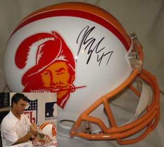 John Lynch Signed Autographed Tampa Bay Bucs Buccaneers Full Size Helmet w Photo