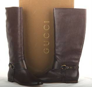 NEW GUCCI LADIES TIE DYE LEATHER CREST LOGO KNEE HIGH BOOTS 40 10