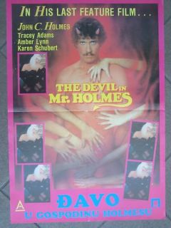 Devil in Mr Holmes John Holmes YUGO Movie Poster 1987