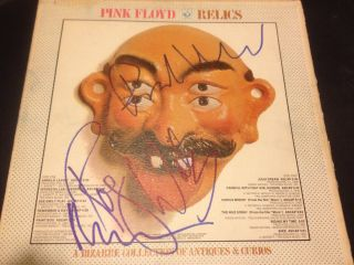 Pink Floyd Relics Signed LP Record Autograph Waters Wright Mason