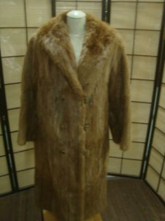 95370 Long Brown Muskrat Fur Woman's Coat Jacket John McKay