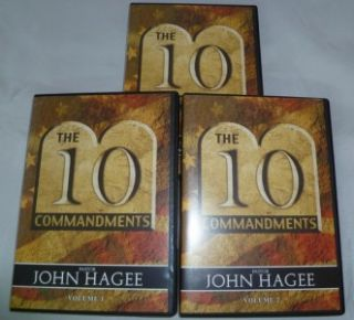 John Hagee The Ten Commandments Vol 1 2 3 10 CD Set Complete New