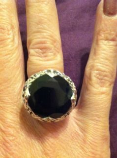 John Hardy Sterling Silver and 18K Gold Black Onyx Ring