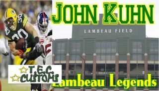 John Kuhn Green Bay Packers NFL Custom Index Card Lambeau Legends FB Star